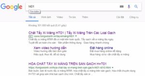 Tìm kiếm thông tin sản phẩm đơn giản trên google